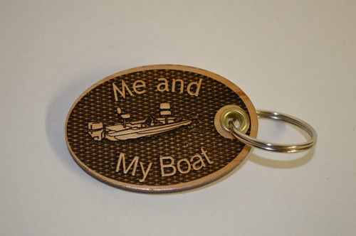 3D Me and My Boat Key Ring