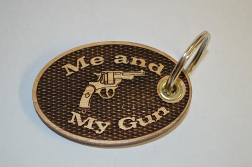 3D Me and My Gun Key Ring