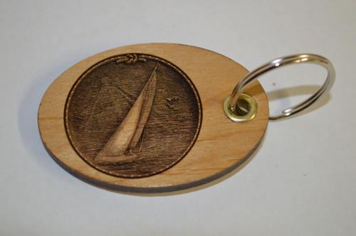 3D Sailboat Key Ring