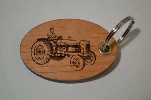 Man on Tractor Key Ring
