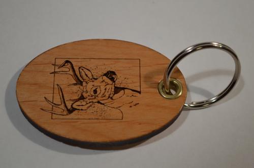 Deer Head Key Ring