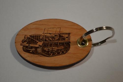 Track Vehicle Key Ring