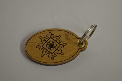 Folk Art Key Ring