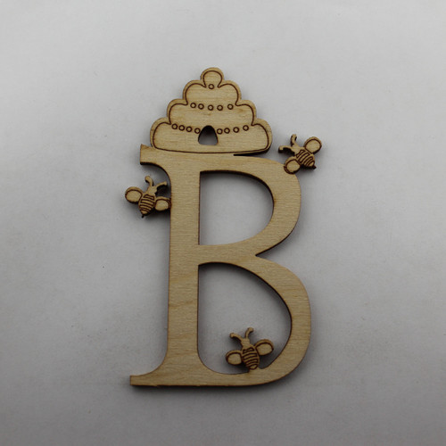 """B is for Bee"" / Whimsical Wooden Alphabet Letter"