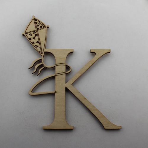 """""""K is for Kite"""" / Whimsical Wooden Alphabet Letter"""