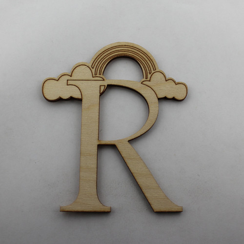 """R is for Rainbow"" / Whimsical Wooden Alphabet Letter"