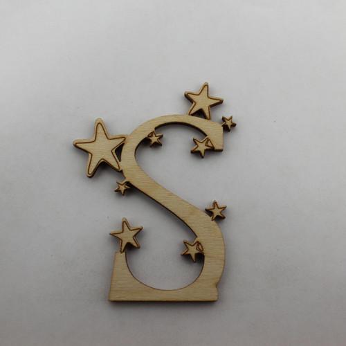 """""""S is for Star"""" / Whimsical Wooden Alphabet Letter"""