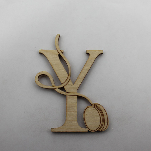 """Y is for Yoyo"" / Whimsical Wooden Alphabet Letter"