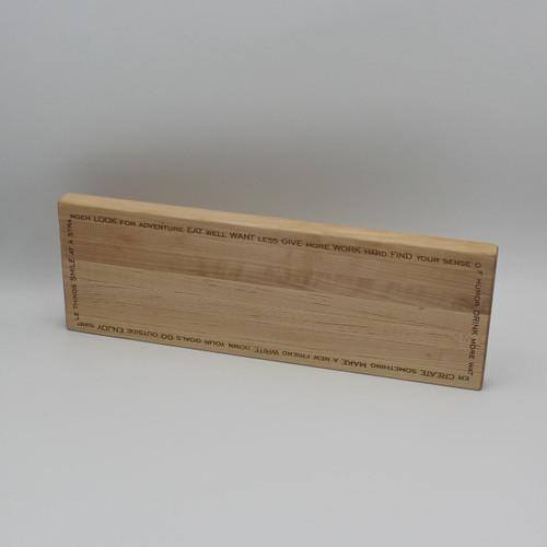 Maple cutting board 13.875 x 4.75