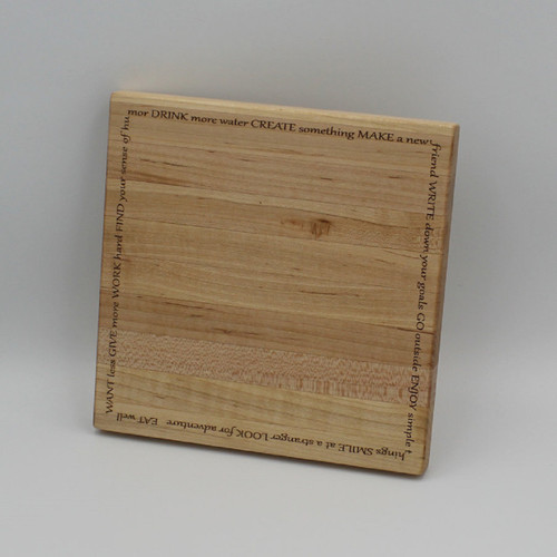 Maple cutting board 7.75 x 7.75