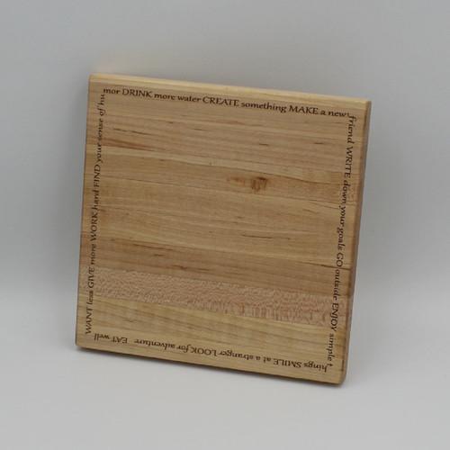 Maple cutting board 7.75 x 7.75