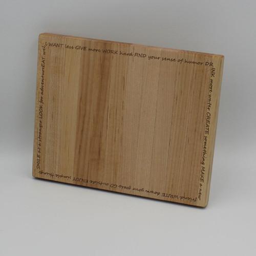 Maple cutting board 7.75 x 9.75