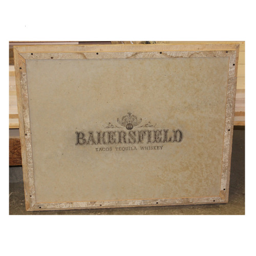 Laser engraved barnwood menu board