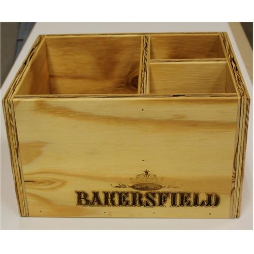 Laser engraved condiment box