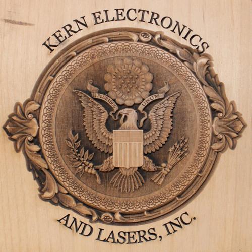 3D laser engraved wood sign