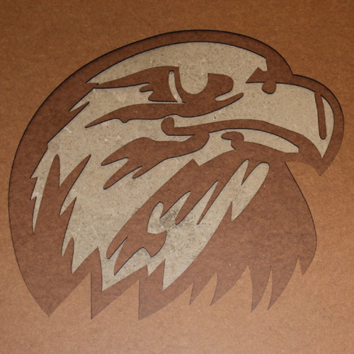 Eagle engraved in wood