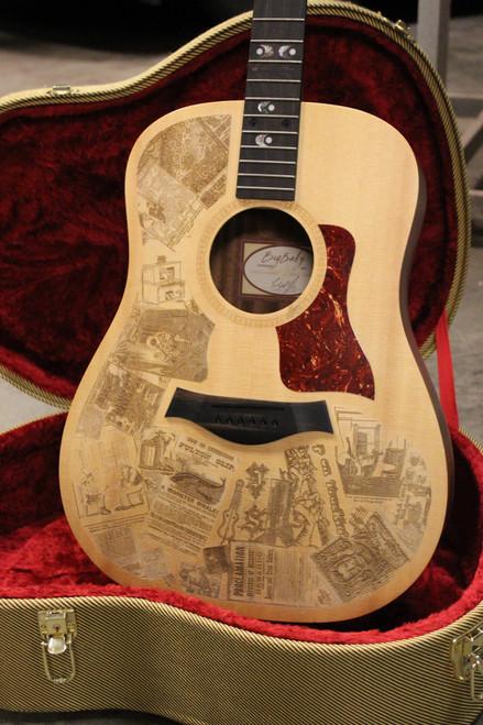 One-of-a-kind laser engraved guitar