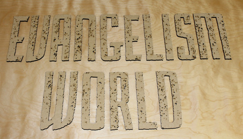 Laser cut decorative lettering
