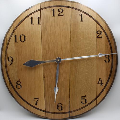 Barrel Head clock - plain face with silver hands