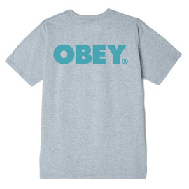 OBEY-BOLD 2 CLASSIC-S/S TEE-HEATHER GREY