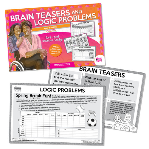 Real American Families - Logic Problems & Brainteasers (Ages 9 and up)