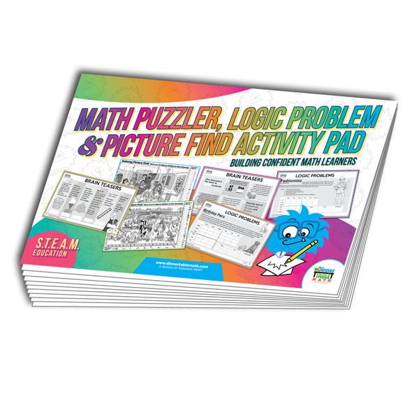 Picture Find, Math Puzzler, Logic Problem Activity Pad