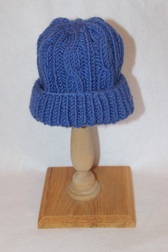 Hand Knitted Child's Hat (Blue)