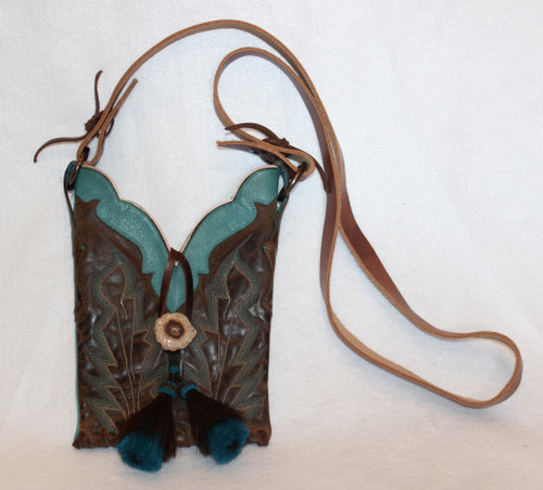 Turquoise Boot Top Purse