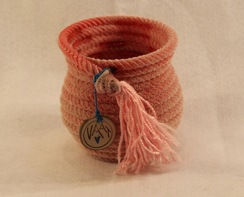 Small Rope Vase Red
