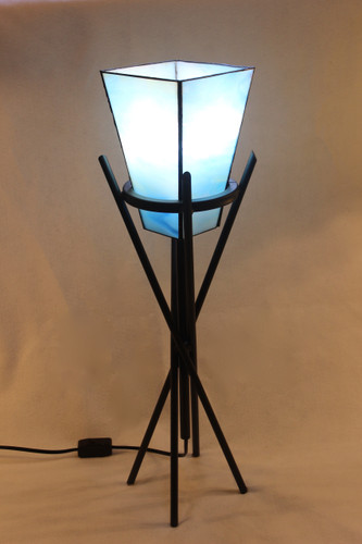 Stained Glass Torch Table Lamp