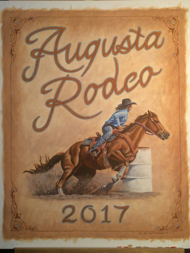 2017 Augusta Rodeo Poster by Cody Witham