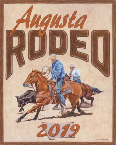 2019 Augusta Rodeo Poster by Cody Witham