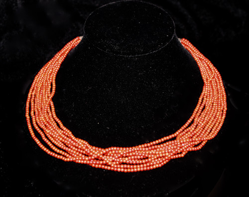 10 Strand Coral Necklace