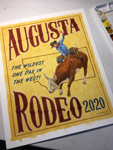 2020 Augusta Rodeo Poster by Cody Witham
