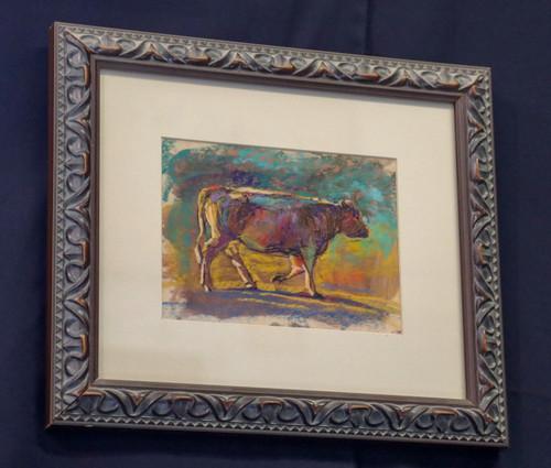 """Green Cow"" by Sheila Rieman"