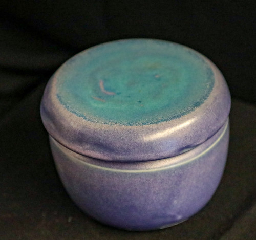 French Butter Dish (blue/purple)