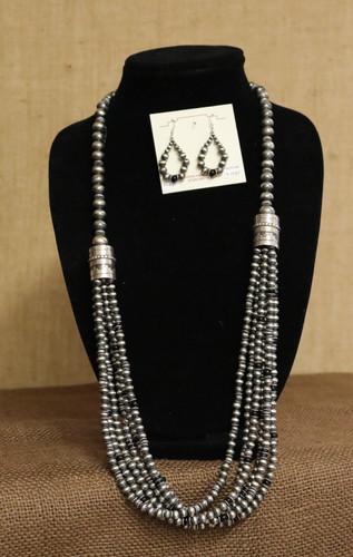 Necklace/Earring Set w/Onyx