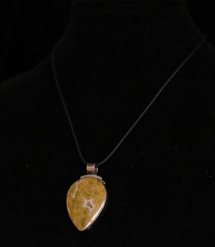 Necklace Pendant w/Ocean Jasper