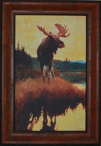 """""""Moose"""" print by Phillip R. Goodwin"""