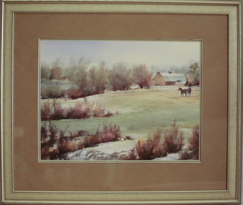 """Spring Pasture"" watercolor by Jean Halverson"