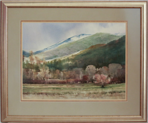 """Valley In the Spring"" watercolor by Jean Halverson"
