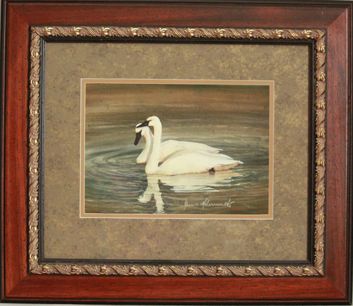 """Pair of Swans"" watercolor by Jean Halverson"