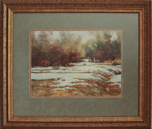 """Does in Snow"" watercolor by Jean Halverson"