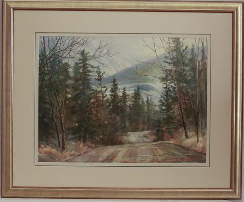 """""""Mountain Road"""" watercolor by Jean Halverson"""