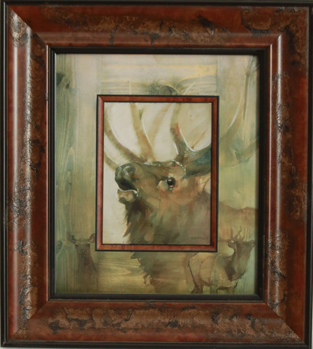 """Elk"" oil by Mary Roberson"