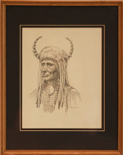 """Indian Chief"" pencil by LF Bjorklund"