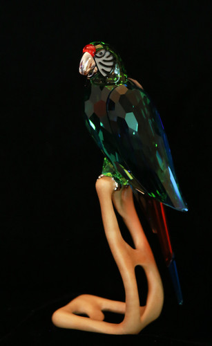 Swarovski Crystal Green Macaw