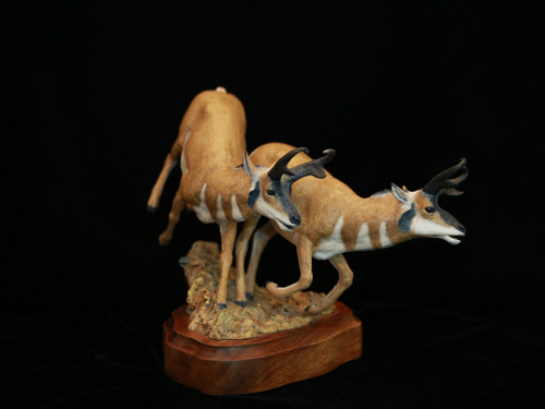 """Speedin"" bronze by Tuffy Berg"
