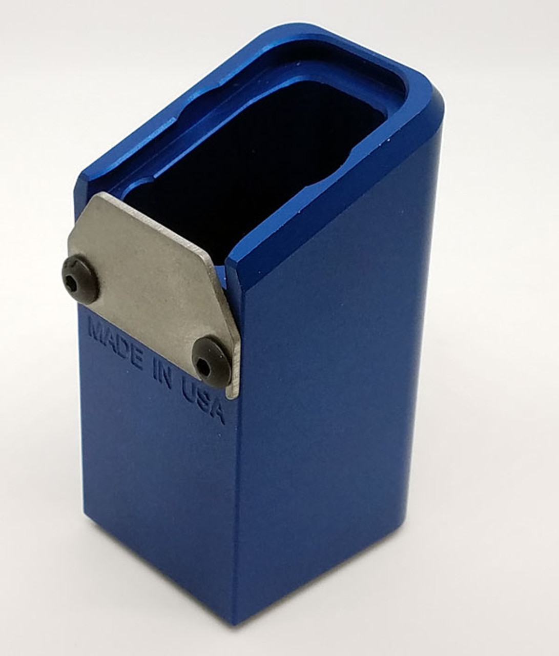 GLOCK +12 FOR 9MM, BLUE-ANODIZED ALUMINUM w/spring