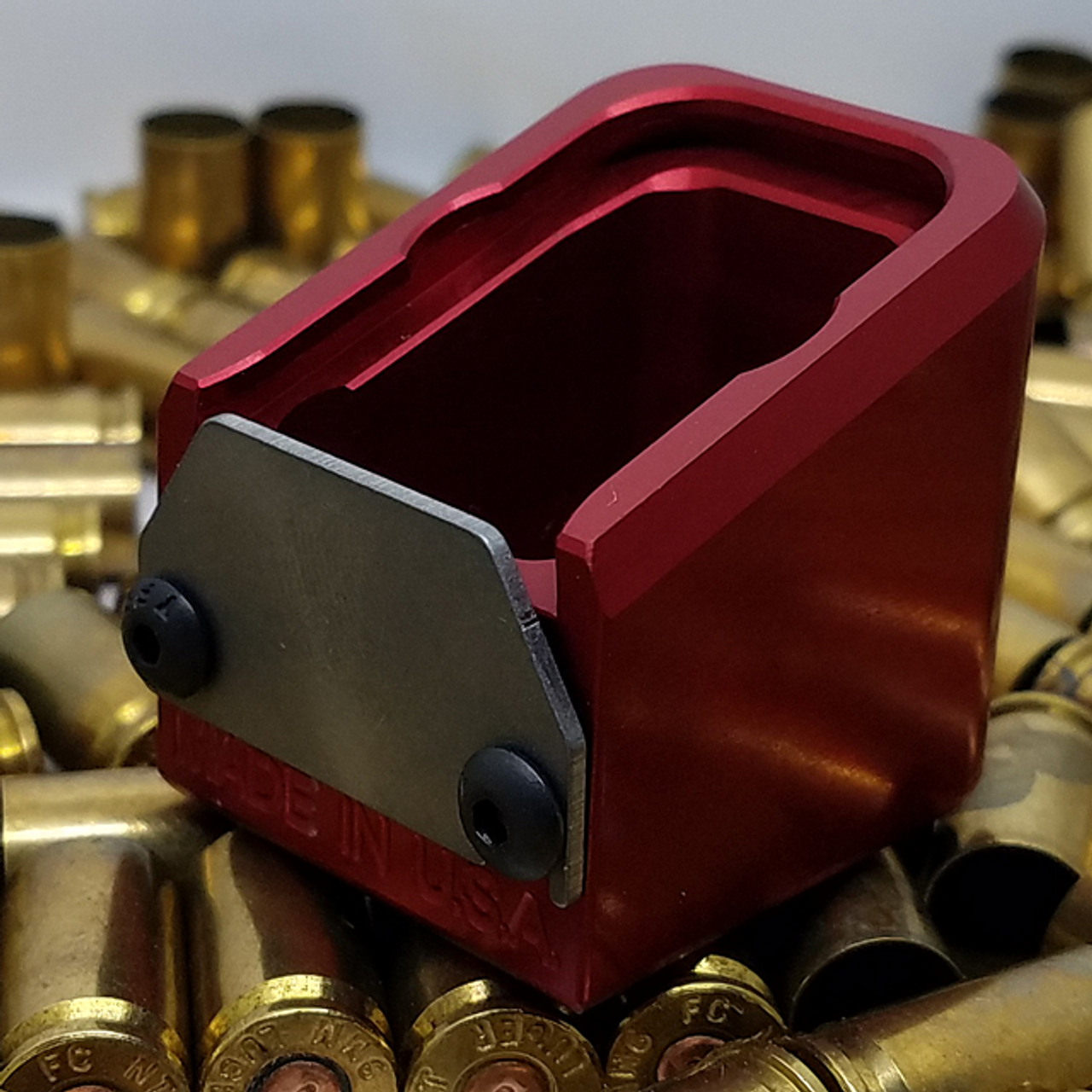 GLOCK +5 RED-ANODIZED ALUMINUM, W/SPRING